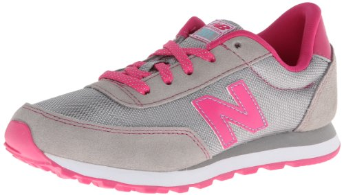 New Balance Lifestyle Grey Pink Youths Trainers Gris Rose