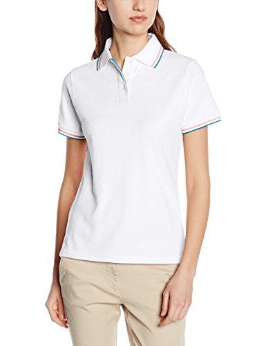 Intimuse Damen Poloshirt, Weiß (Weiß), 52 (Herstellergröße: XXL)
