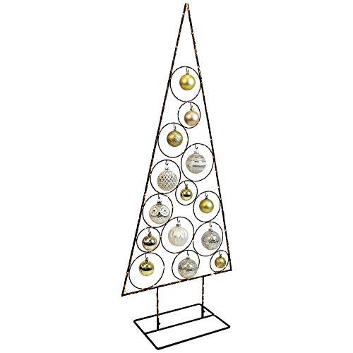 Weihnachtsdekoration Aufsteller Weihnachtsbaum Dekobaum, 14 Haken, Metall, 51xH126cm, Tannenbaum