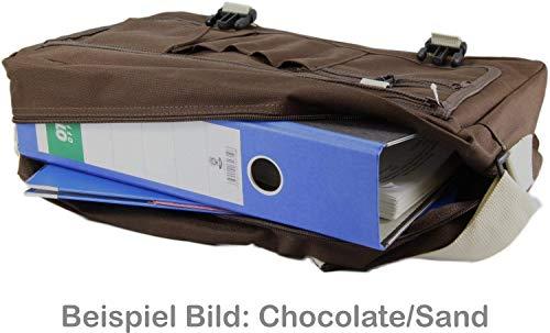 Messenger Bag Schultasche Studententasche Schultertasche – Bin müde, hab hunger mir ist kalt. (Schwarz) - 4