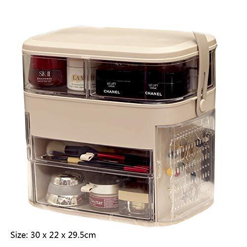 Badezimmer Eitelkeiten Schubladen (NanBao Makeup Organizer Kosmetik Ordentlich Aufbewahrungsbox Badezimmer Schlafzimmer Eitelkeit, mehrschichtige Klare Schublade für Frisierkommode,Pink)