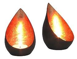 Goldlicht Flame, Innen bronzen/kupfern, ca. 11 cm