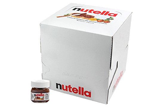Nutella Mini Glas 64 Stück Ferrero Brotaufstrich Minigläser klein Schokolade 25 g kleine Packung