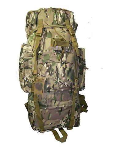 CHT Camuffamento Esterno Di Grande Capienza 65L Borsa Da Viaggio Zaino Alpinismo Maschile 75 * 30 * 20cm Colore Opzionale,Black CPcamouflage