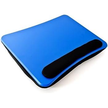 Relaxdays 10016335 Knietisch Laptoptisch Laptopkissen, blau