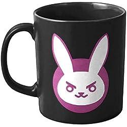 Overwatch Tasse D.VA Bunny Icon 325ml en céramique Noire