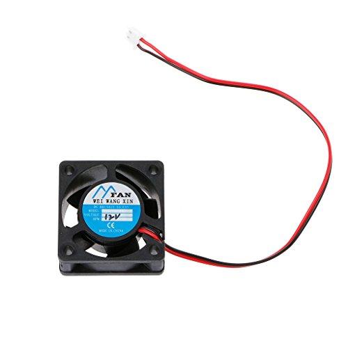 Yintiod PC Lüfter Gehäuselüfter, 40 mm × 40 mm × 20 mm DC 12 V 2-Pin 5-Blatt-Kühler Bürstenloser Mini-Lüfter 4020