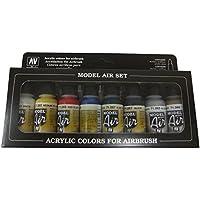 Vallejo-Kit pittura acrilica colori per aerografo, colori assortiti (confezione da 8)