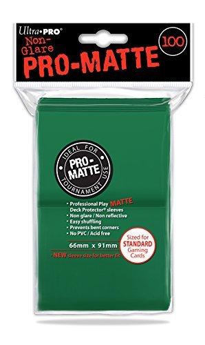100 Ultra Pro Deck Protector Sleeves Pro-Matte Green - Grün - Standard Kartenhüllen Mat