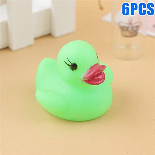 y Gummi Bad Ente Spielzeug LED Blinklicht Wassersensor Baby Dusche Spielzeug Farbwechsel ()