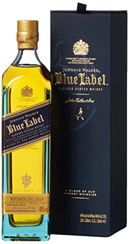 Johnnie Walker Blue Label Scotch mit Geschenkverpackung Whisky (1 x 0.2 l) Whisky Johnnie Walker Blue