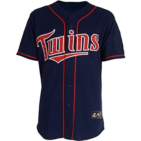 MLB Minnesota Twins Justin Morneau Marineblau Home Baseball Jersey Spring 2012Herren, Herren, navy