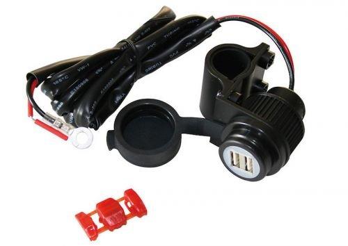 2-fach USB Ladegerät Handy Navi Steckdose für Roller & Motorrad Batterie