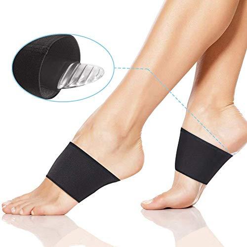 Fascite plantare piedi piatti donna uomo, solette gel tutore supporto imbottiti per arco piedi, ortopedici soletta calzini scarpe tallone caviglia, rialzo suola rigido sollievo dal dolore 4 pz