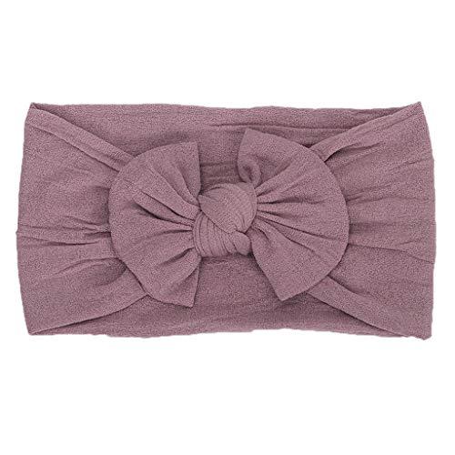 erthome 1 stück niedlichen Baby Kleinkind säuglings Bowknot Stirnband Haarband Headwear - Fleece Baby Sleeper