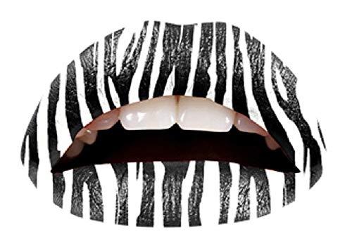 Modello 3 - tattoo adesivi per labbra bocca temporanei corpo stickers adesivo foglio - donna
