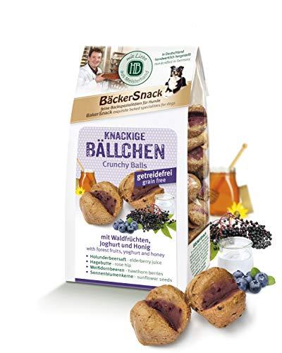 H&B HB Knackige Bällchen, mit Waldfrüchten, Joghurt, Honig, 2er Pack (2 x 125 g) (Joghurt Sonnenblumenkerne)