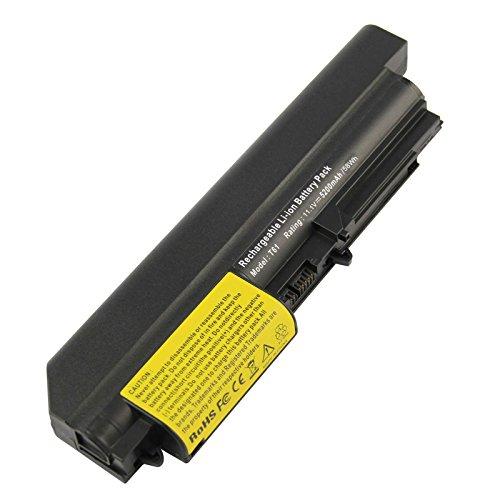 ARyee 5200mAh 11.1V T400 Batterie Laptop Akku Ersatz für Lenovo ThinkPad R400 7443, R61 7732 7733 7734 7735 7736 7737 7738 7742 7743 7744 7751 7753 7754 (Thinkpad Akku Externes)