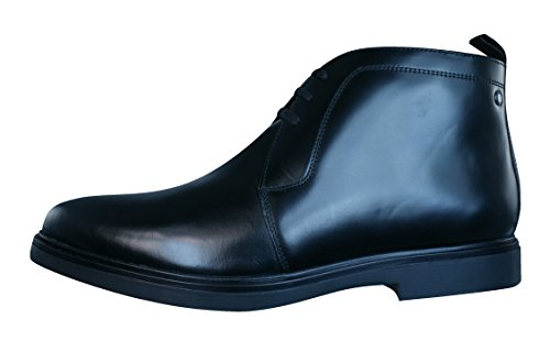 Base London Mens Screw Leather Shoes Black