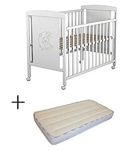 cuna: Cuna para bebé, modelo Oso Dormilón Mundi Bebé + Colchón Viscoelástica + Protect...