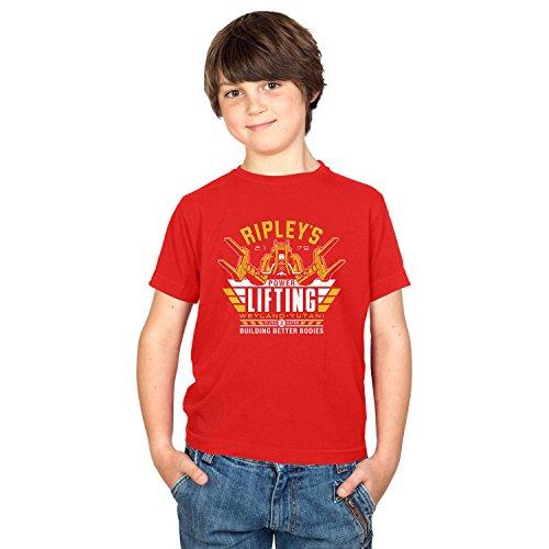 Wirt Kostüm Weihnachts (TEXLAB - Ripley's Power Lifting - Kinder T-Shirt, Größe XS,)
