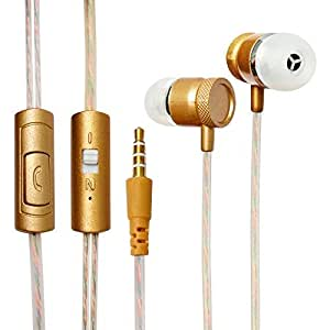 ECell Premium 3.5mm [GOLD / ROSE GOLD] Metal Cutting Hifi In-ear Music Headphones With Mic Earphones Stereo Sound Hands-free For Xiaomi Redmi Note 4