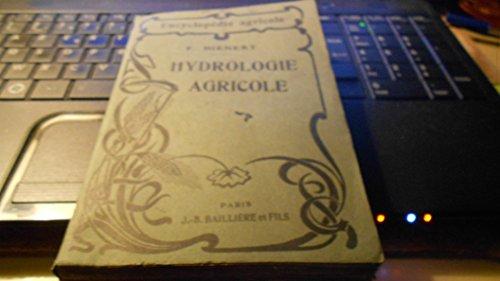 Hydrologie agricole par Dienert F.