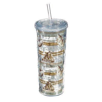 Cypress Home Sand and Sea Textured Acrylic Tumbler, 16Ounces Acryl Drinkware