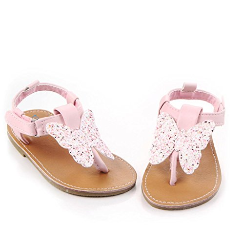 Igemy 1Paar Frühling Soft Sole Baby Mädchen Baby Schuhe Mode Schuhe Schmetterling Knoten Schuhe Rosa