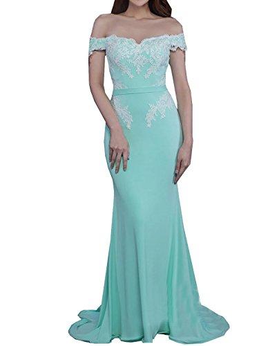 Trompete / Meerjungfrau weg von der Schulter Abendkleid Chiffon Party Kleider mit Applikationen