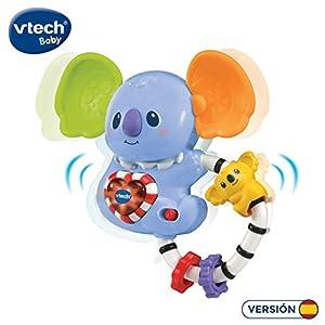 VTech- Kiko el Koala Divertido sonajero con Voz y música para animar al bebé a Que preste atención a su Entorno, Diferentes Texturas, Detector de Movimiento, (3480-513222)