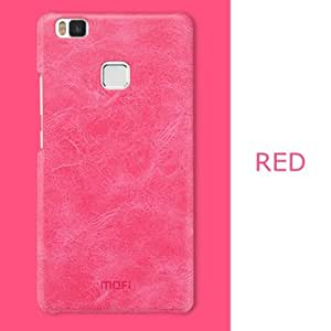 MOFI PU Leather Hard Back Protective Cover Case For Huawei P9 Lite-Red