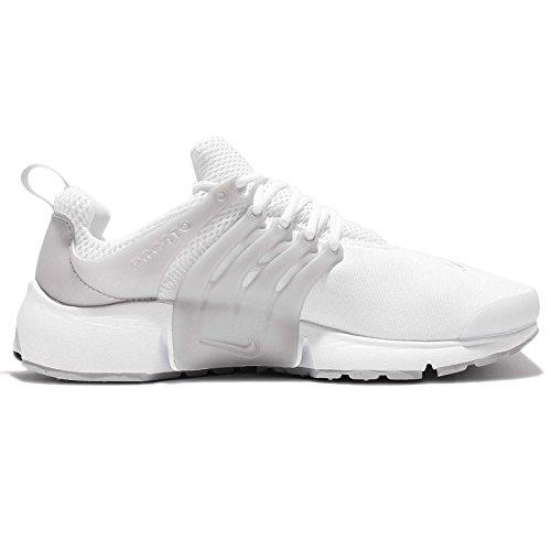 Nike Air Presto Essential Sneaker Turnschuhe Schuhe für Herren Weiß (White/Silver)