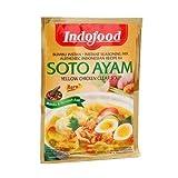 Indofood Soto Ayam, di colore Giallo Chiaro Brodo di Pollo, 45 grammo (pacchetto di 2)