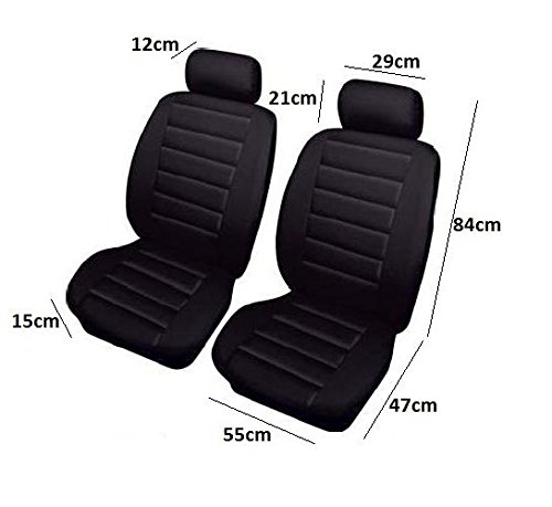 Autopower 1 Front Pair of Black Airbag Leather