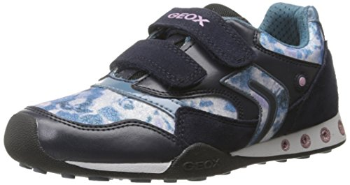 Geox JR NEW JOCKER GIRL A, Mädchen Sneakers, Blau (C4PH4DK NAVY/OCTANE), 28 EU