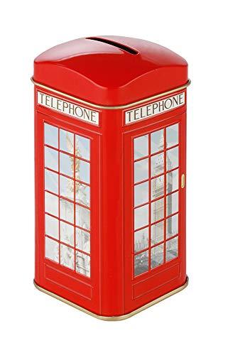 Teebeutel-Caddy Spardose Londoner Telefonzelle, 20 Namensschilder English Breakfast Tea ... (Ahmad Tea English 1)