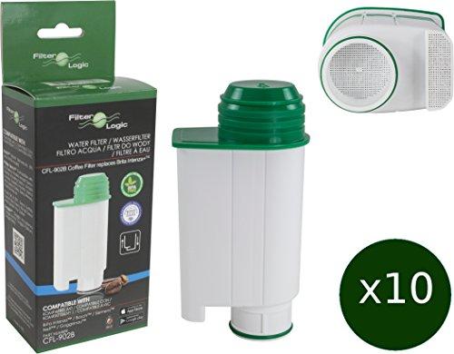 10 x FilterLogic CFL-902B - cartuccia filtrante / filtro acqua compatibile con Saeco BRITA Intenza+ CA6702/00 - per macchina da caffè Saeco / Philips /