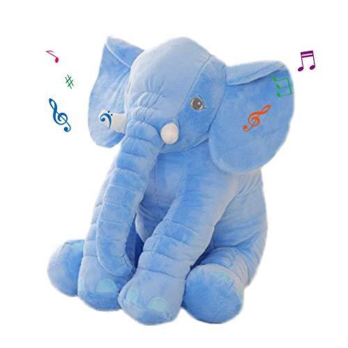 Peluche Muñeca Regalo de cumpleaños inducción creativa luz elefante peluche muñeca muñeca...