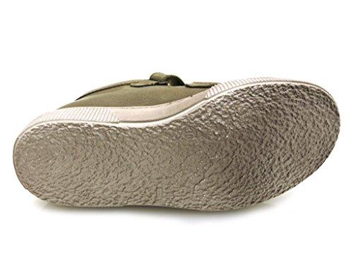 Ma-Ra Sneaker Stiefelette Kelttschuhe Jungenschuhe mit 100% Wolle Taupe