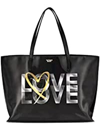 NEW! Victoria's Secret 2017 Love Holographic Tote Bag - Black!