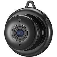 DIGOO Mini 960P Wlan kamera, Überwachungskamera mit 10 IR-LEDs, SD-Recording, 2-Wege-Kommunikation, Bewegungsverfolgung, 115° Betrachtungswinkel und Nachtsicht Schwarz