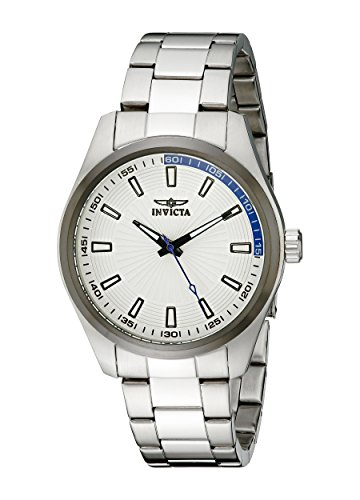 Invicta Specialty Men's Quartz Watch with Silver Dial  Analogue display on Silver Stainless Steel Bracelet 12826