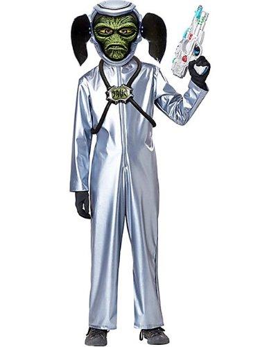 Deluxe First Contact Alien Kids gun & Motion mask Costume Halloween Scary Fancy ()