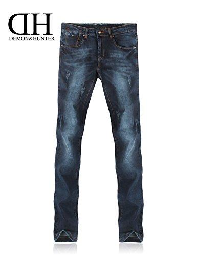 Demon&Hunter Hommes Mince Jeans S30S3 Bleu