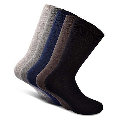Snocks Socken Herren Schwarz 43-46 Herrensocken Größe 43 Gr 44 Gr. 45 46 Schwarze Herren Socken Business Socken Dünne Männer Socken Baumwolle Baumwollsocken Lange Strümpfe Herren Casual Anzug