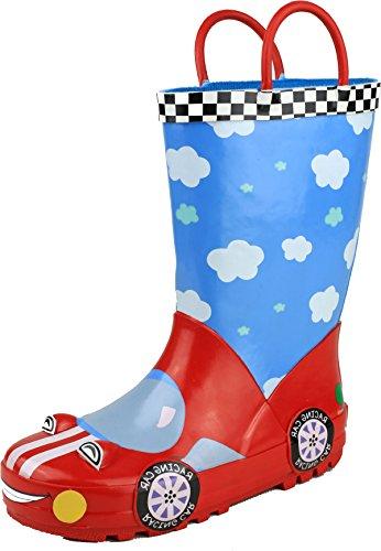 Cotswold Unisexe pour enfant Motif pluie flaque de coffre en caoutchouc supérieur Chaussures Racer