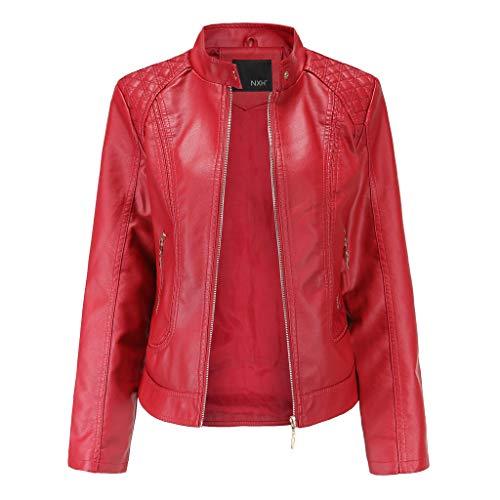 Winter warme Frauen Mantel Kurzmantel Lederjacke Parka Zipper Tops Overcoat Outwear Lederjacke Cashmere-shift