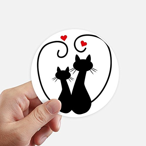 ebhaber Sihouette Tier Valentine Aufkleber 10Cm Wand Koffer Laptop Motobike Aufkleber 8Pcs Diameter 10Cm Mehrfarbig ()