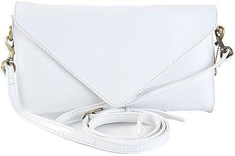 GIGI Othello Women's Leather Clutch Envelope Shoulder Handbag Bag 8361 (White)
